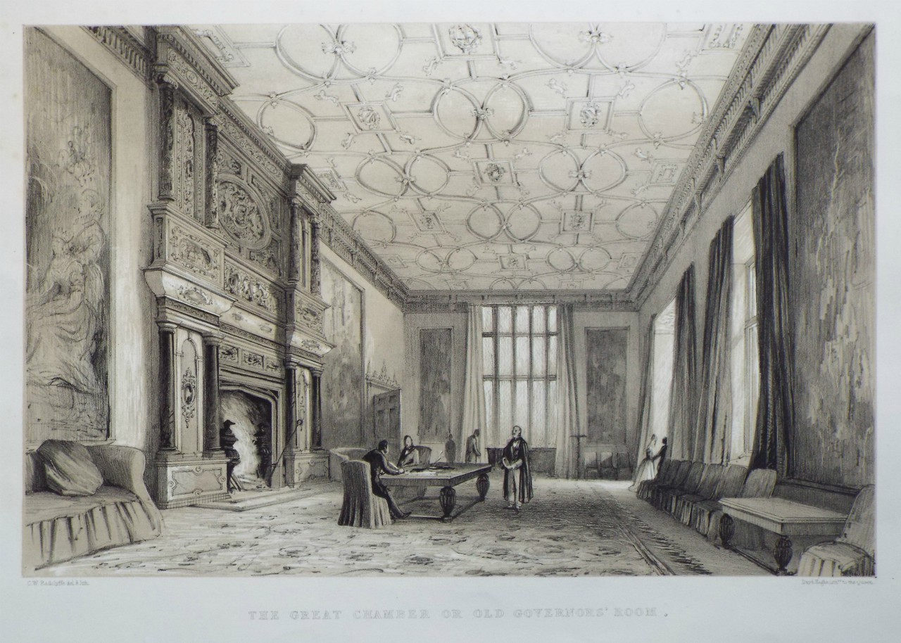 Lithograph - The Great Chamber or Old Governors' Room. - Radclyffe
