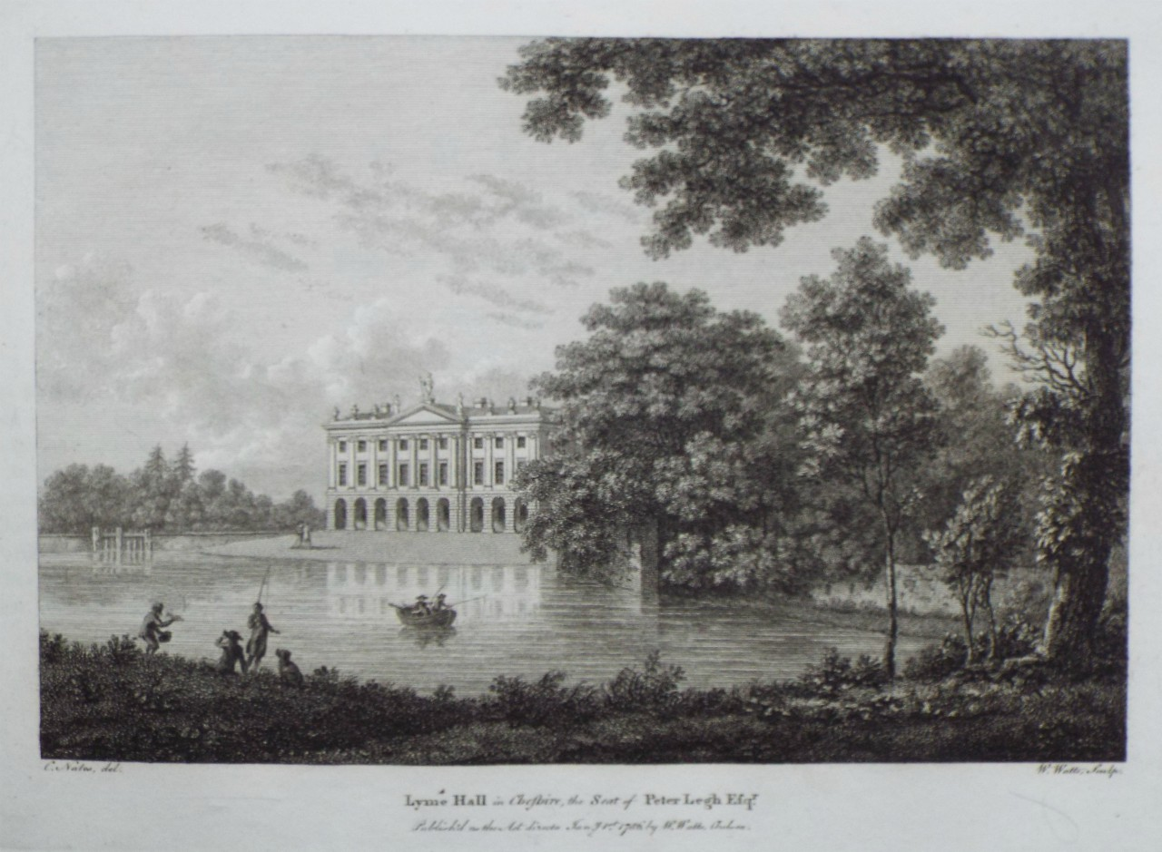 Print - Lyme Hall in Cheshire, the Seat of Peter Legh Esqr. - Watts
