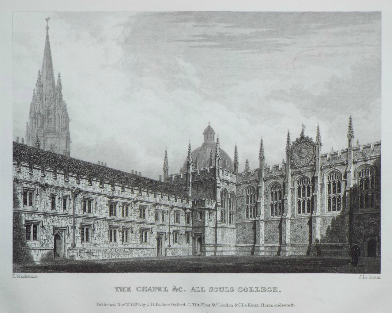 Print - The Chapel &c. All Souls College. - Le