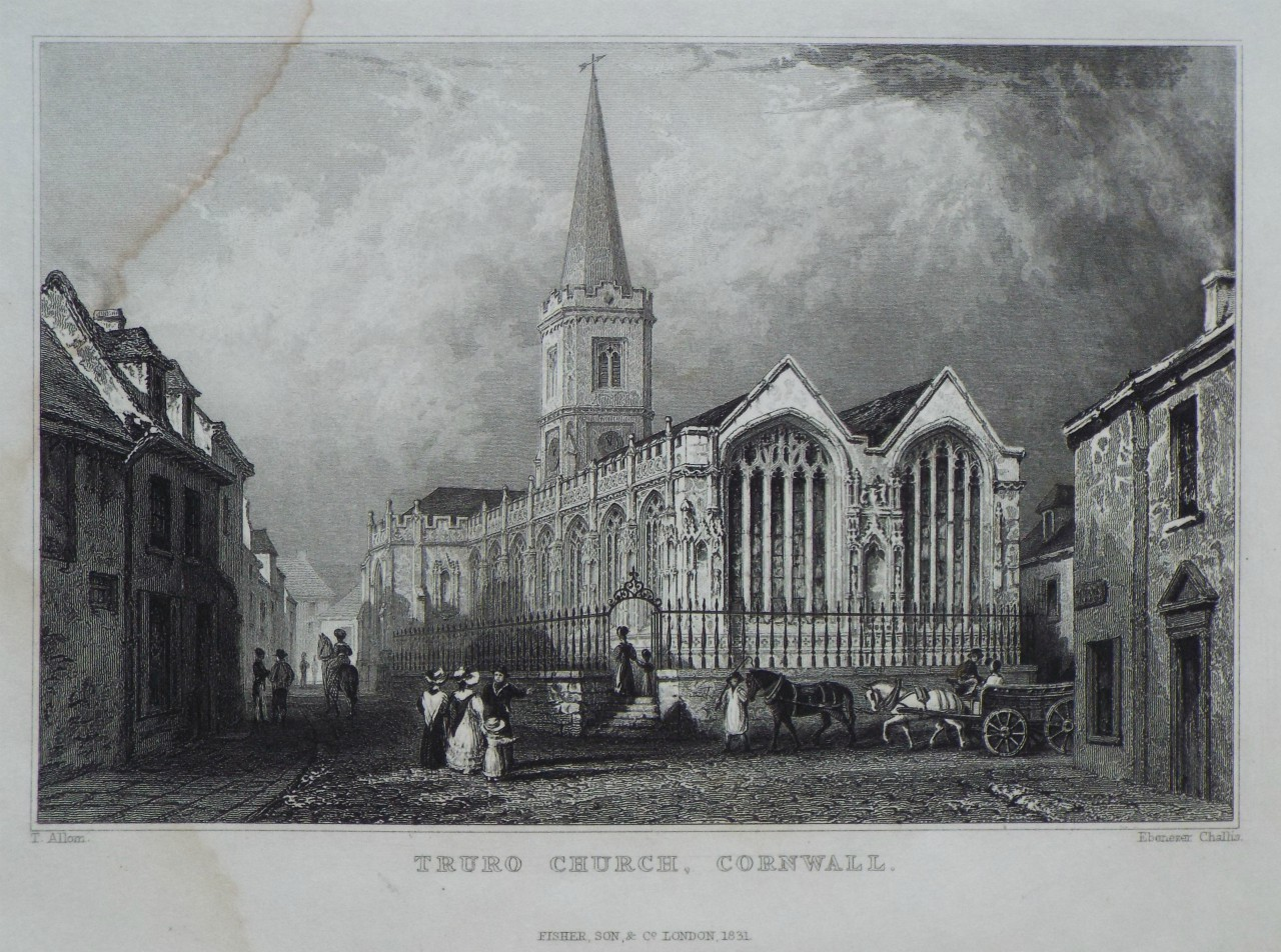 Print - Truro Church, Cornwall. - Challis