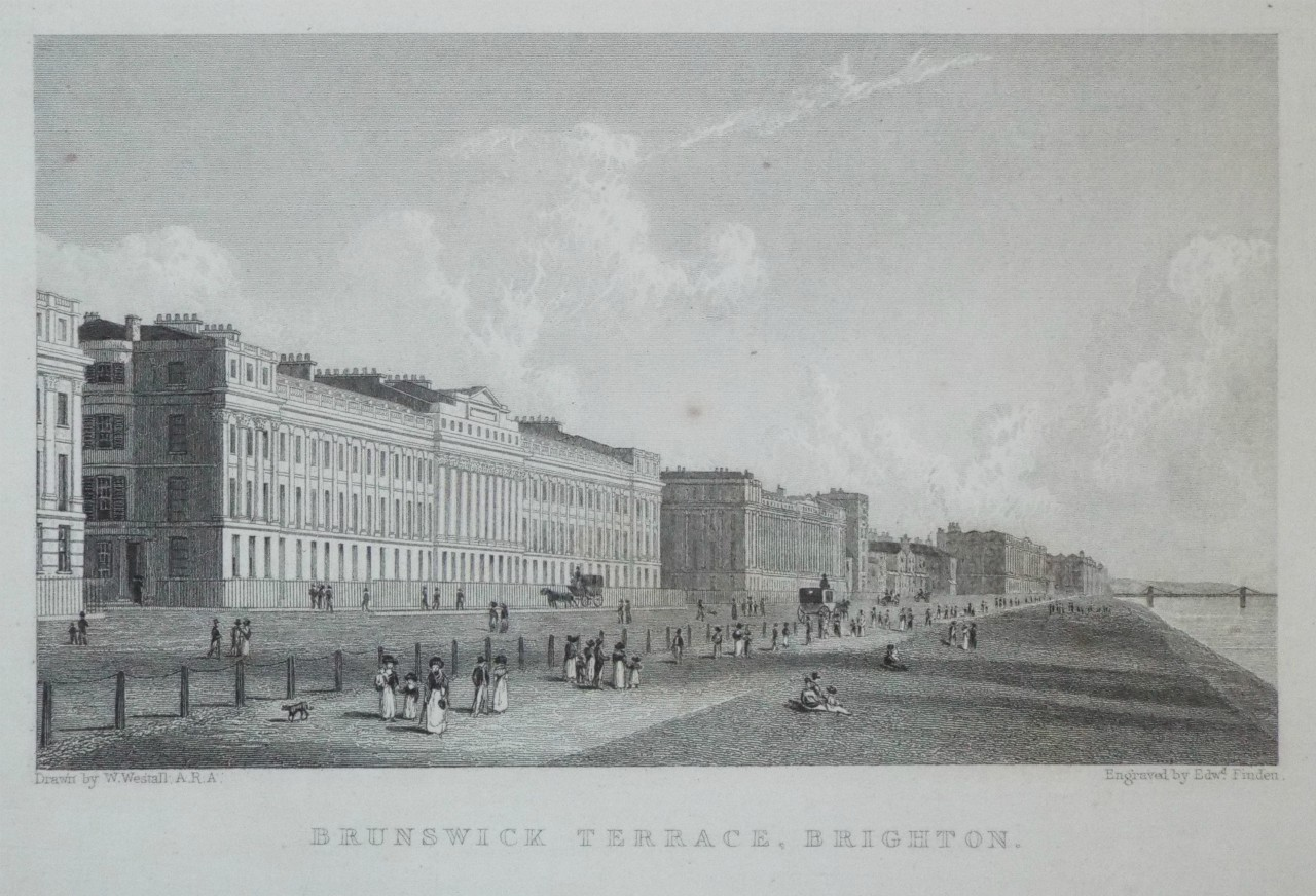 Print - Brunswick Terrace, Brighton. - Finden