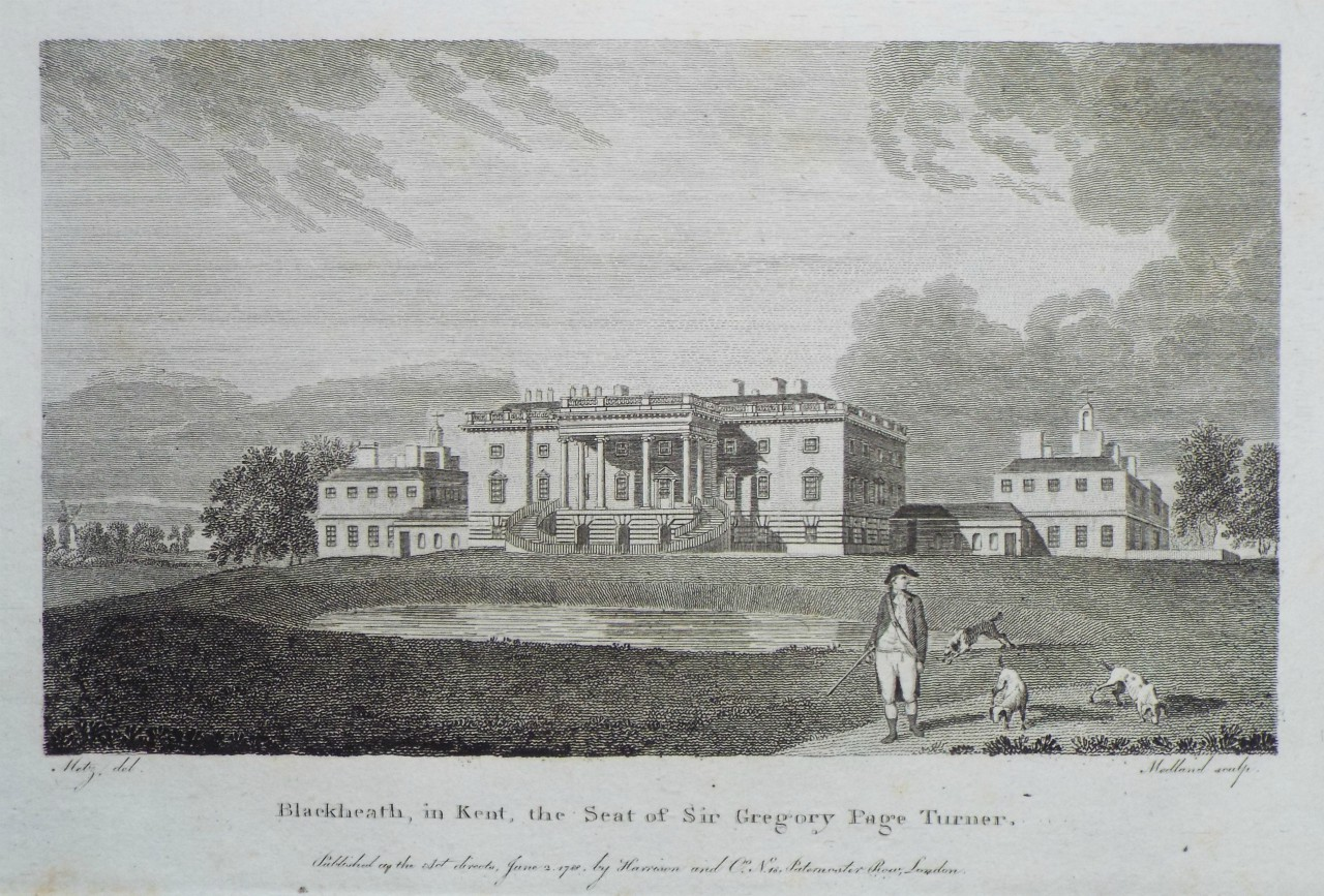 Print - Blackheath, in Kent, the Seat of Sir Gregory Page Turner. -
