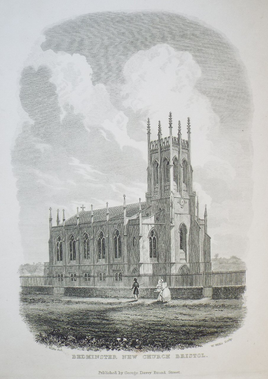 Print - Bedminster New Church Bristol. - Willis