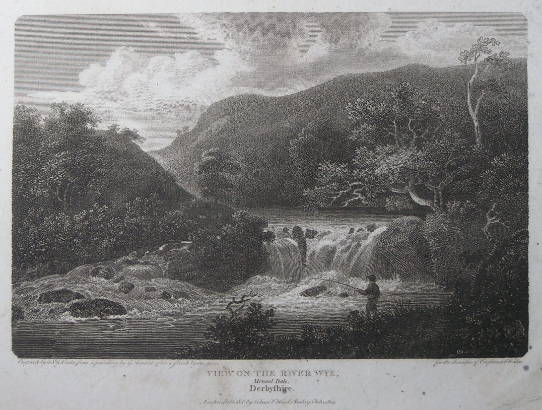 Print - View on the River Wye, Monsal Dale, Derbyshire. - Cooke