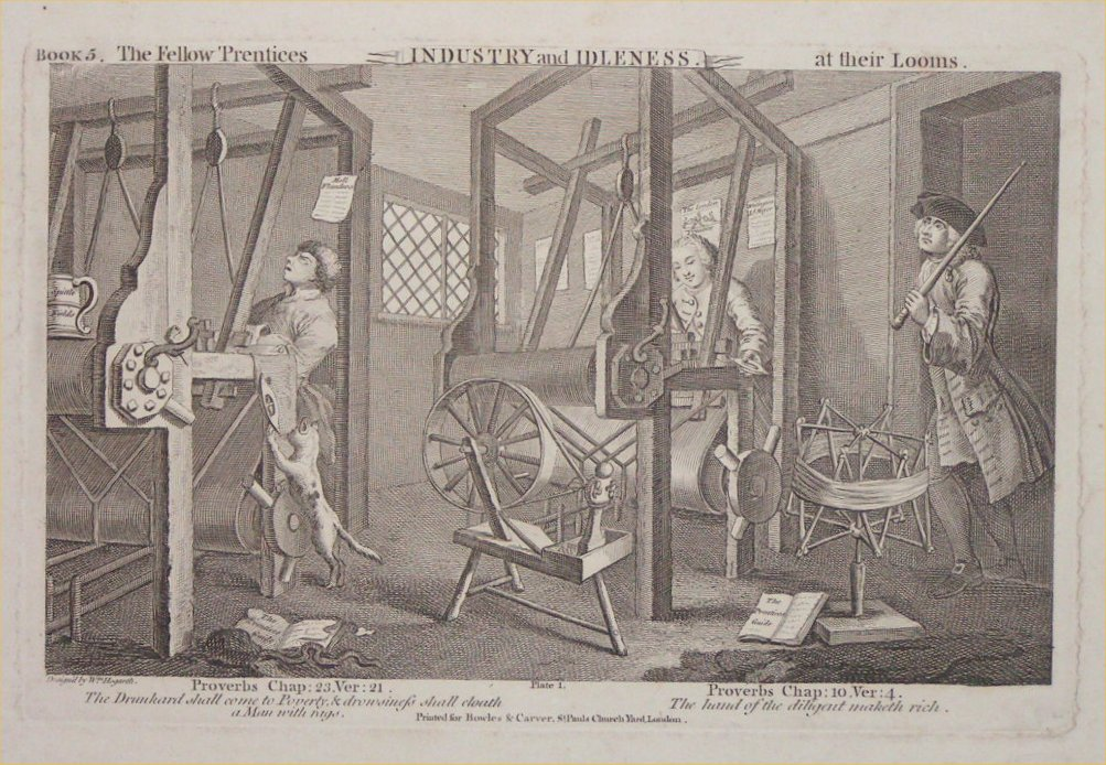 Print - 1. The Fellow Prentices at Their Looms