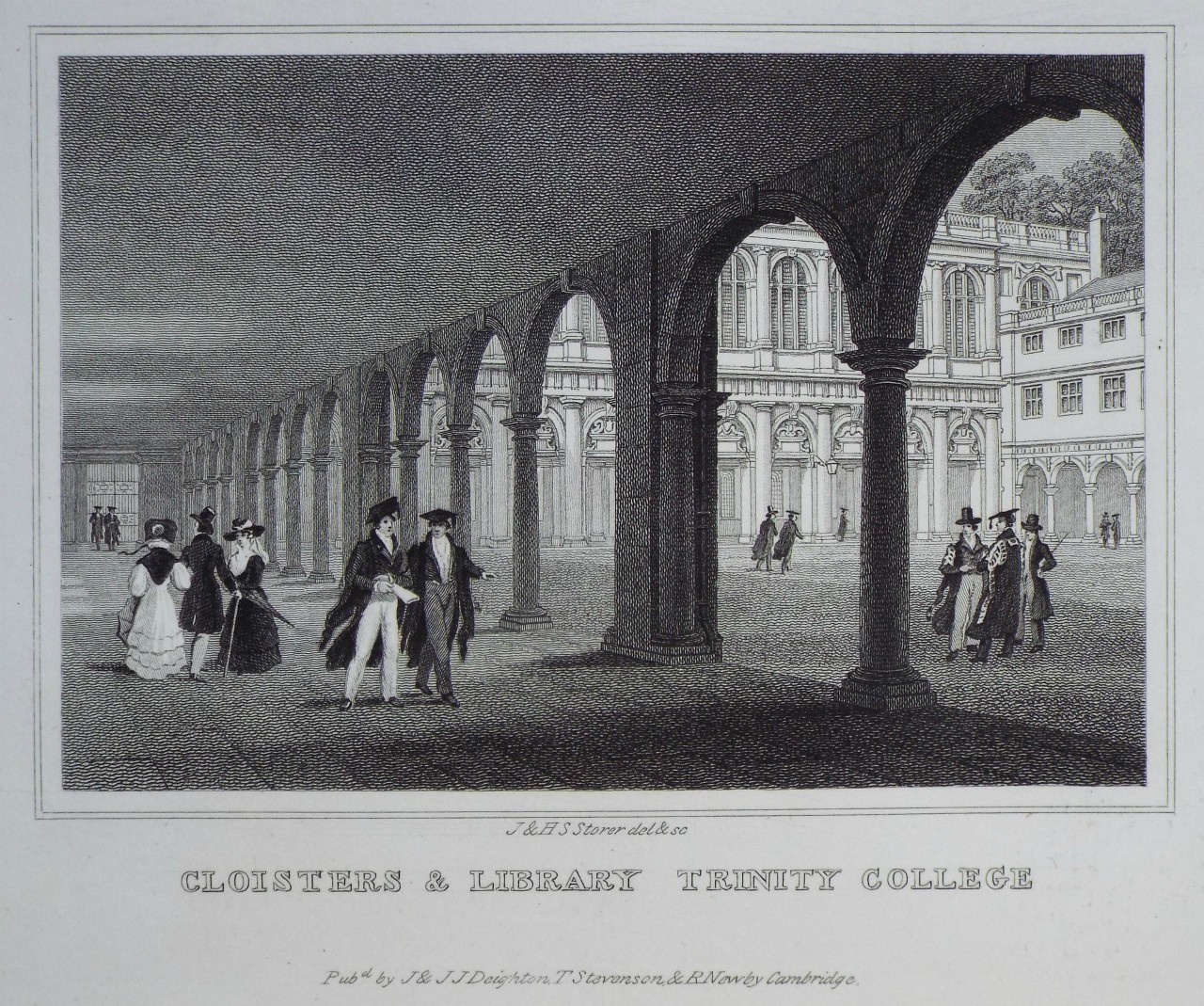 Print - Cloisters & Library Trinity College - Storer