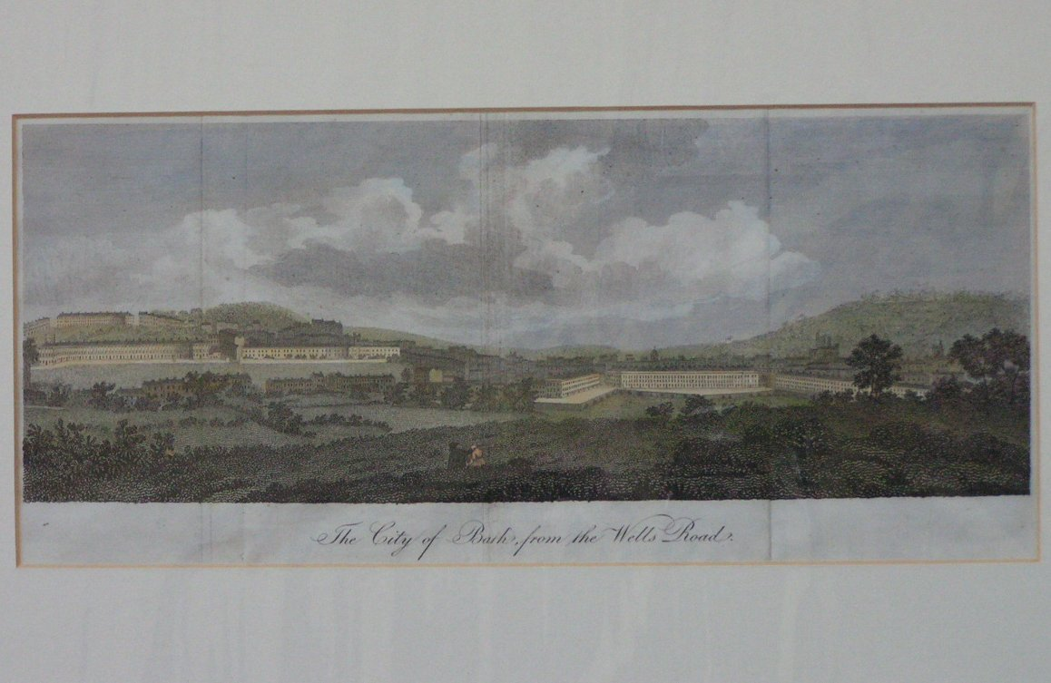 Print - View of Bath from the Wells Road
