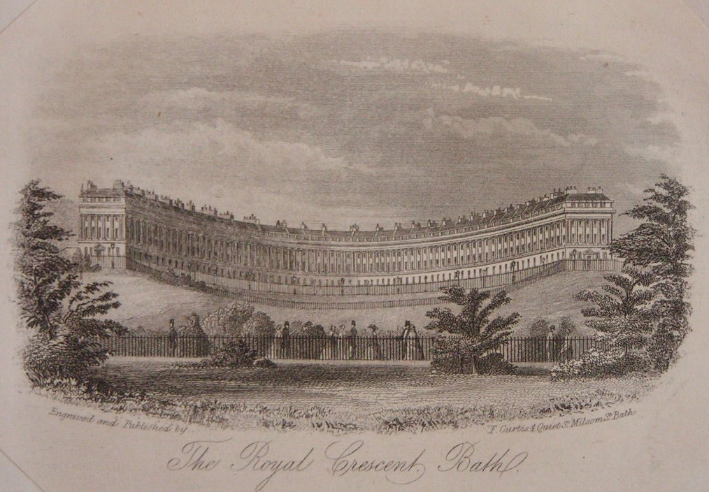 Steel Vignette - The Royal Crescent, Bath. - Curtis