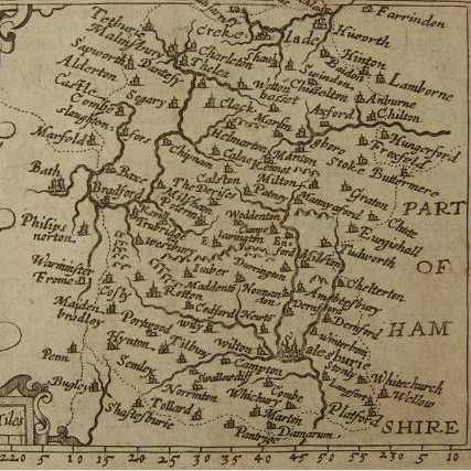 Wiltshire County Maps - Christopher Saxton - 1579